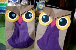 """Owl party treat bags from the """"Rainbow Owlparty"""""""