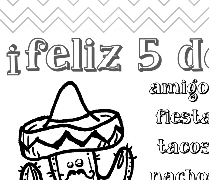 Cinco de Mayo coloring page for kids | denna\'s ideas
