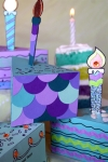 Customize your Cake= Party Favor Boxes