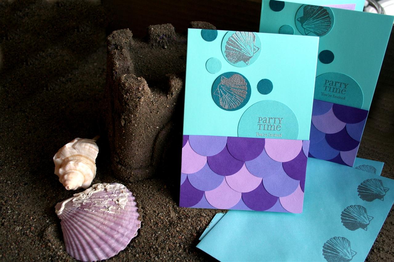 mermaid party invitations dennas ideas