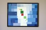 Paint Chip Art: the Guatemalan flag. Cuadro de la Bandera deGuatemala