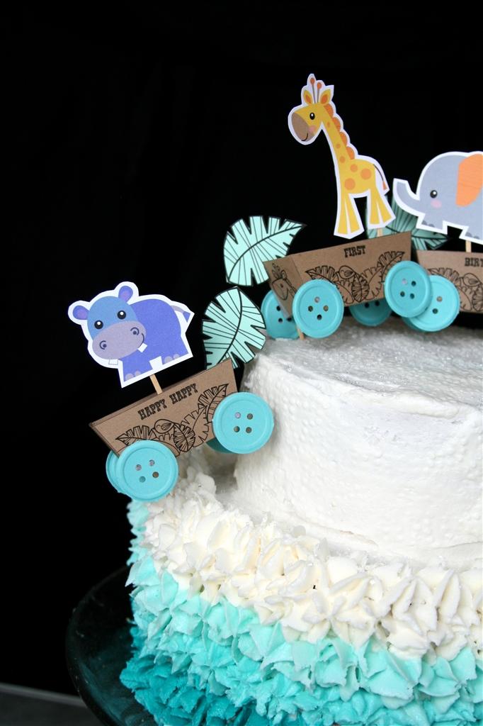 Baby Boy One Year Birthday Cake topper by dennas ideas dennas