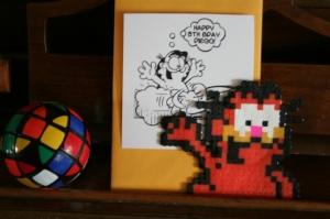 Garfield in perler beads by denna's ideas