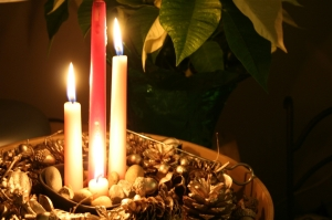 denna's ideas: our Advent candles
