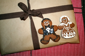 denna's ideas: a home-made Christmas, gingerbread bride and groom