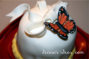 a small butterfly cake by denna's ideas