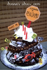 Over the Hill Race Car Cake