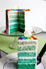 St. Patrick's Day Green Rainbow Cake