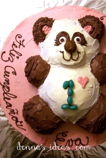 Baby Girl Panda Cake