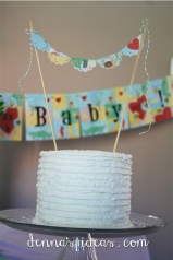Baby Shower Sugared Cake