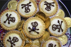 Jolly Roger Pirate Almond Tarts!