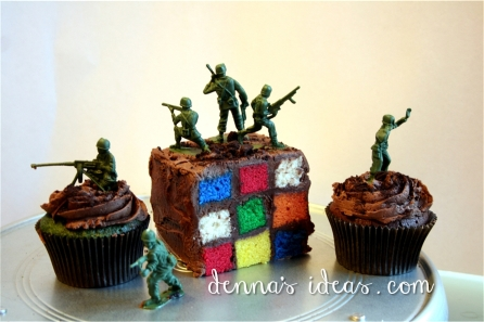 Rubix and Army for an 80's theme party.