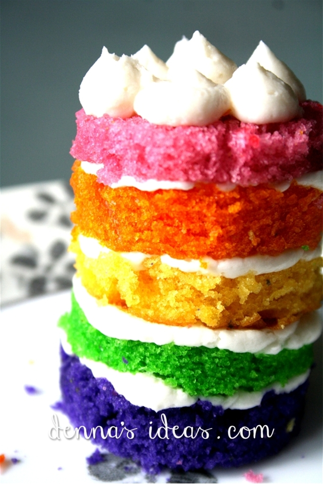 Denna's Ideas- cupcake gallery - rainbow