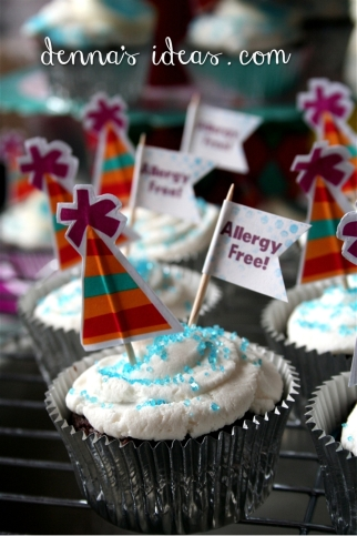 Gluten free, dairy free, egg free cupcakes!