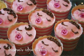 It's a Girl!! Baby face cupcakes.