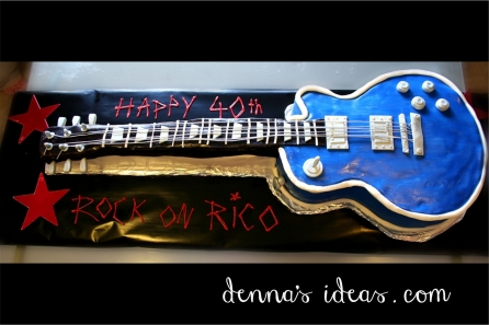 40th Birthday Gibson Guitar Cake