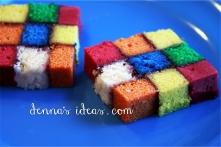Rubix Cube battenberg cake