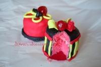 Tiny sweet cherry cakes