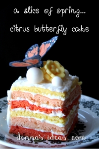slice of butterfly cake, denna's ideas