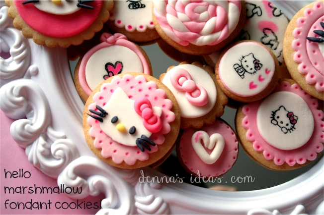 denna's ideas: hello kitty cookies for valetine's day