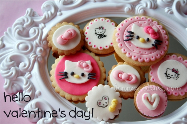 denna's ideas: hello kitty valentine's day cookies