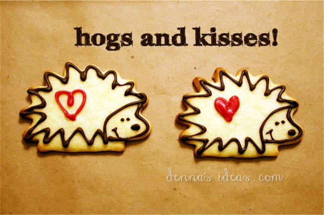 Denna's Ideas-- hogs and kisses cookies