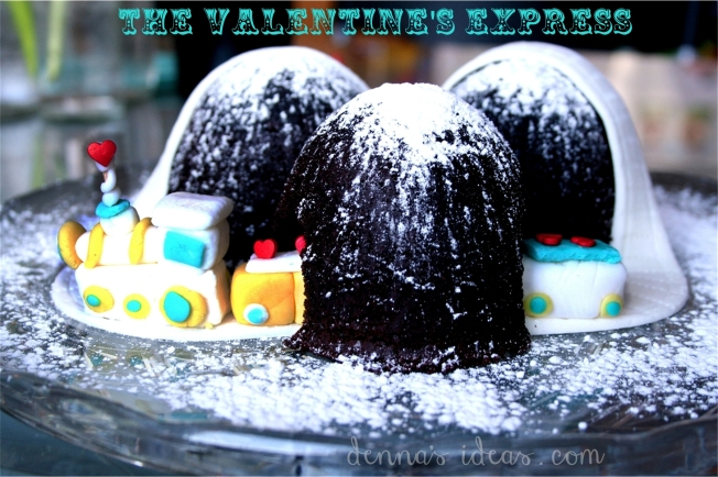 valentine's day train cake by denna's ideas