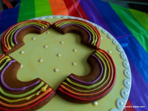 denna's ideas: St. Patrick's Day Ideas Rainbow Cookies