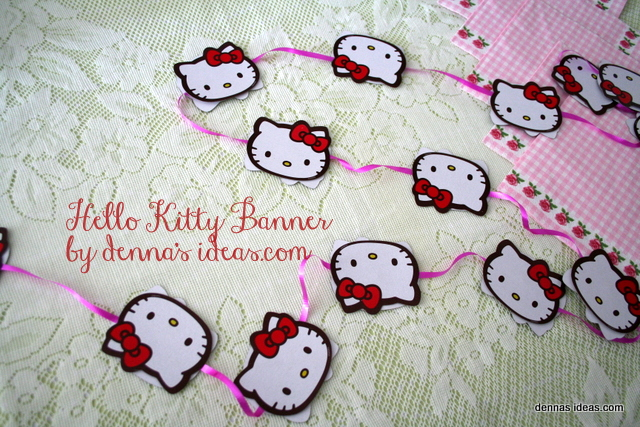 denna's ideas: Fast and Easy Hello Kitty Party Banner from playing cards