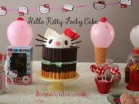 Pocky Cake with Hello Kitty peeking over!