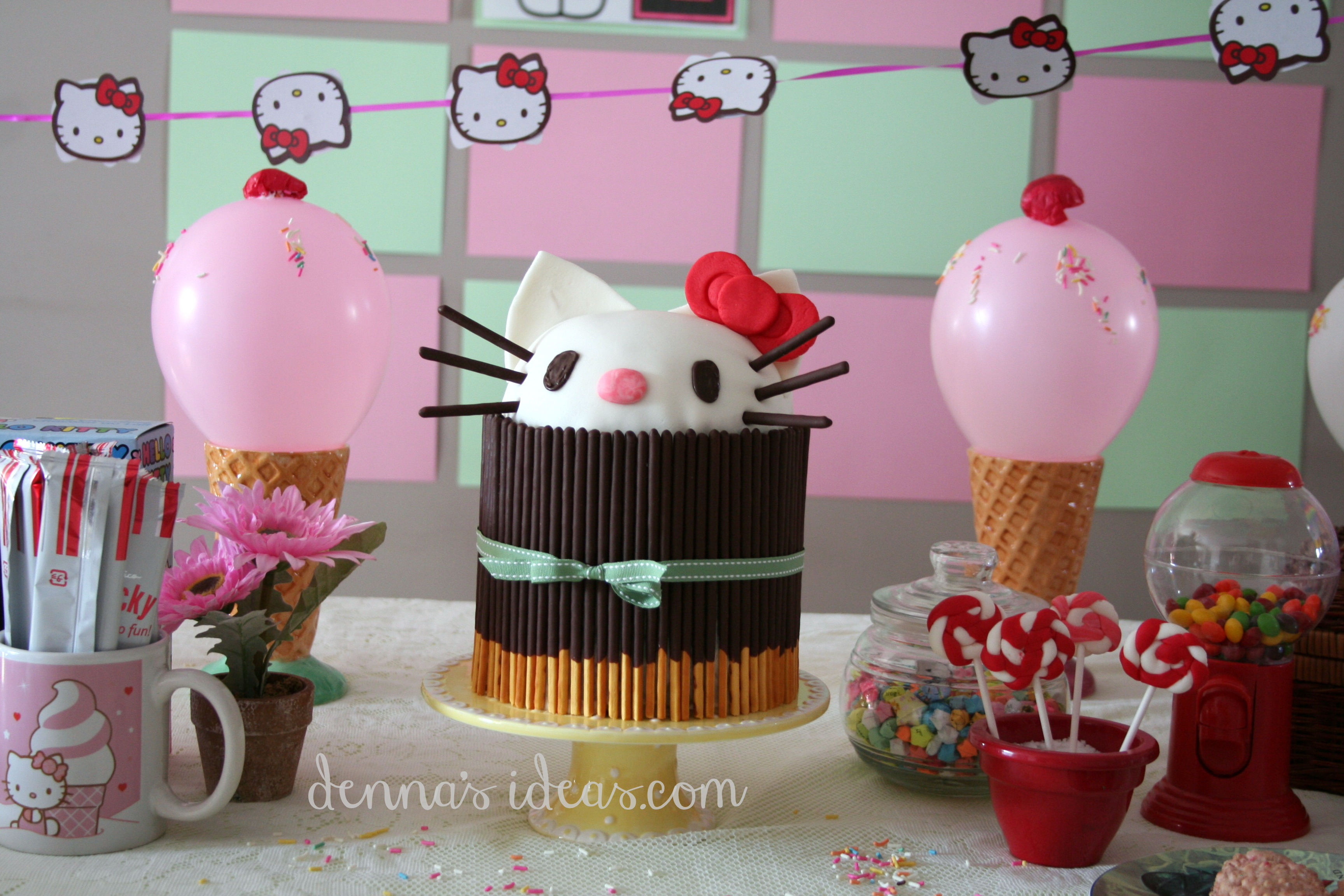 Hello kitty snack ideas denna 39 s ideas for Decoracion barata