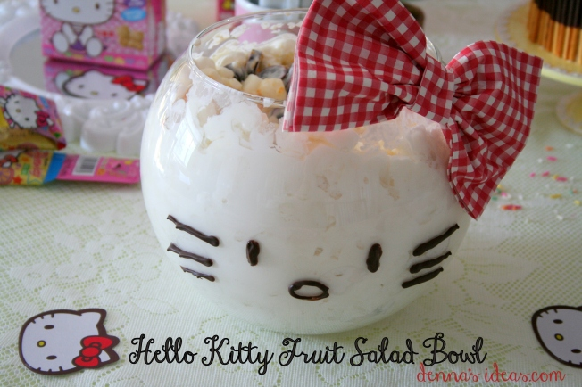denna's ideas: how to make a Hello Kitty fruit salad bowl