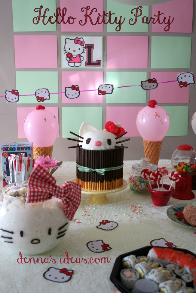 denna's ideas: Hello Kitty Party Ideas, Hello kitty dessert table