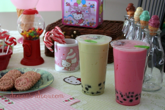 denna's ideas: Hello Kitty Party Ideas, bubble tea