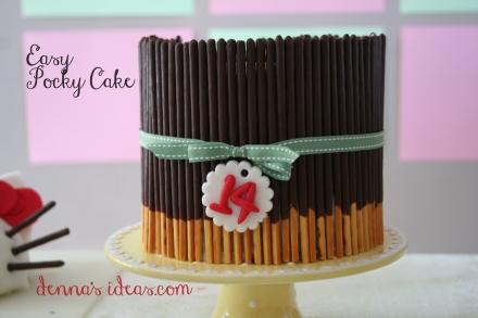 A chocolate Pocky cake!