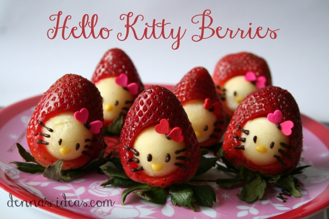 denna's ideas: Hello Kitty Strawberry snacks