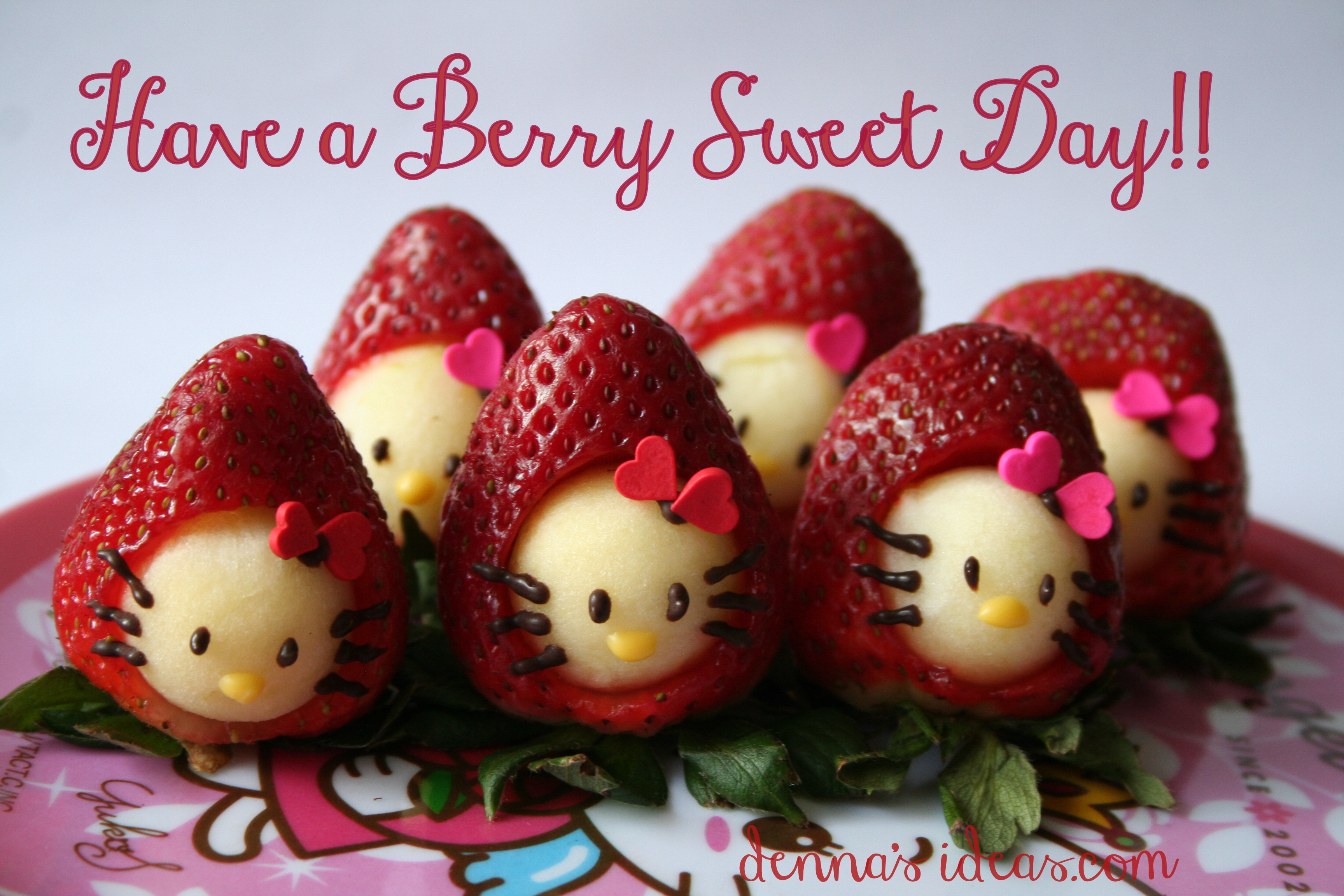 Dennas Ideas Hello Kitty Strawberry Snacks