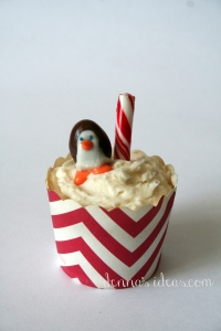 denna's ideas: chocolate covered almonds as cupcake toppers, north pole penguin!