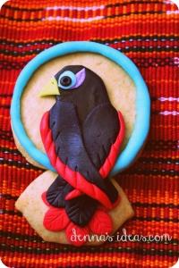 denna's ideas: mayo fiesta fondant bird cookies