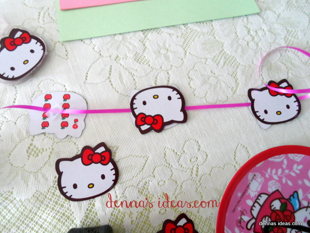 denna's ideas: Fast and Easy Hello Kitty Party Banner how to