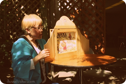denna's ideas: Japanese traditional storytelling with a kamishibai story box