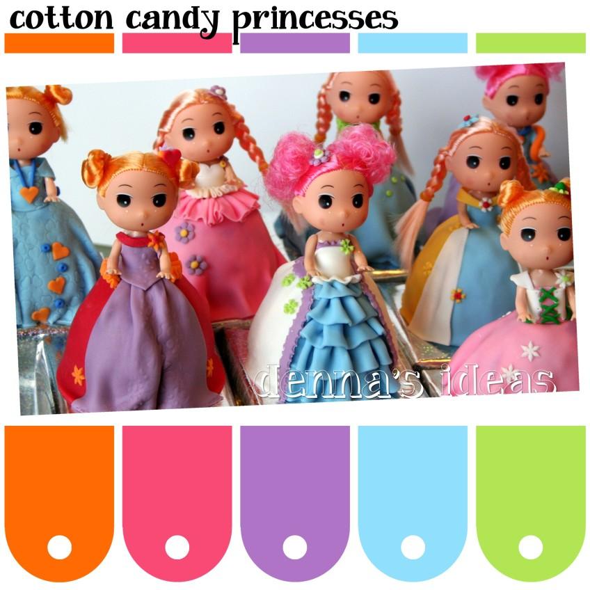 Color Cotton Candy Cotton Candy Princesses Color