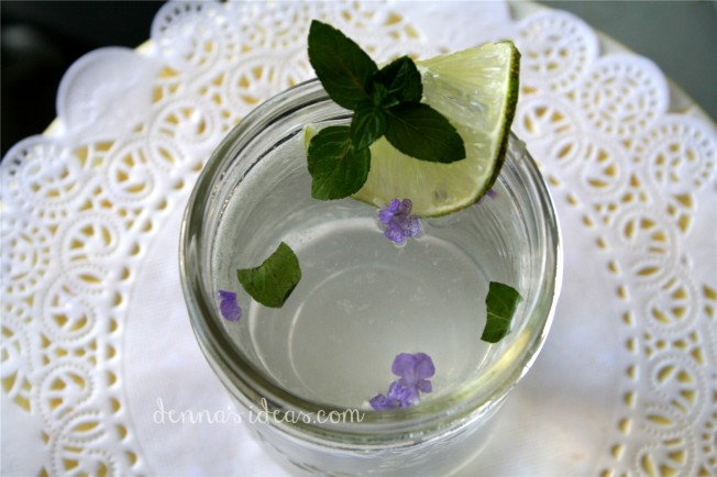 dennasideas.com_my garden harvest - lavender mint lemonade