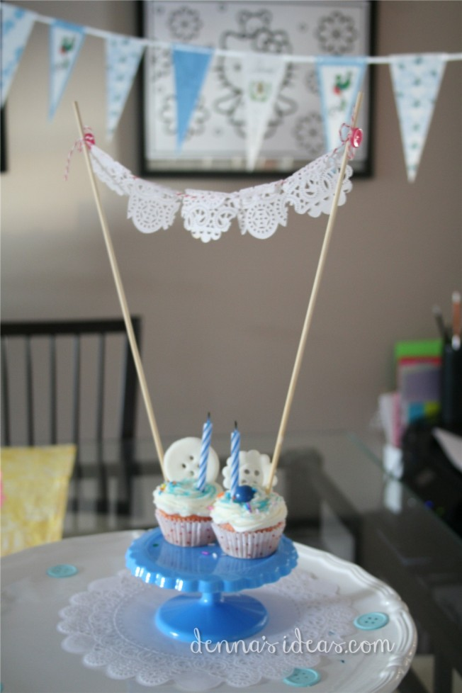 denna's ideas: easy DIY papel picado cake bunting