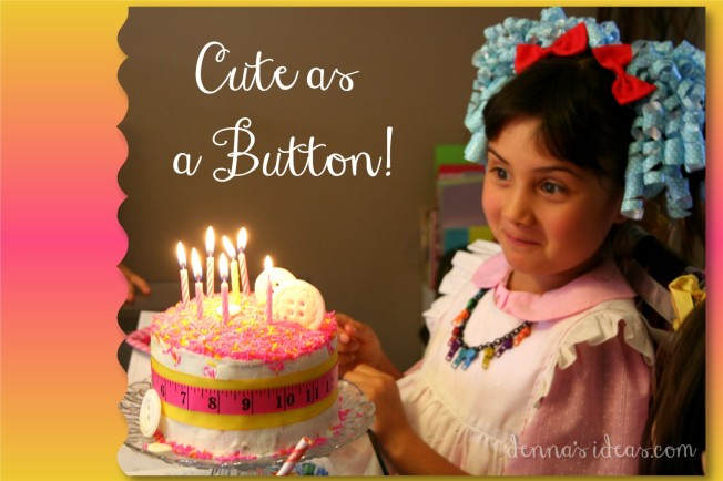 denna's ideas.com :cute as a button cake