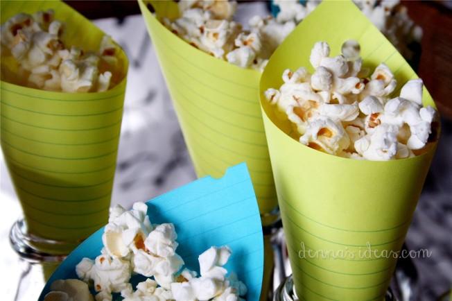 denna's ideas: back to school party , popcorn cones