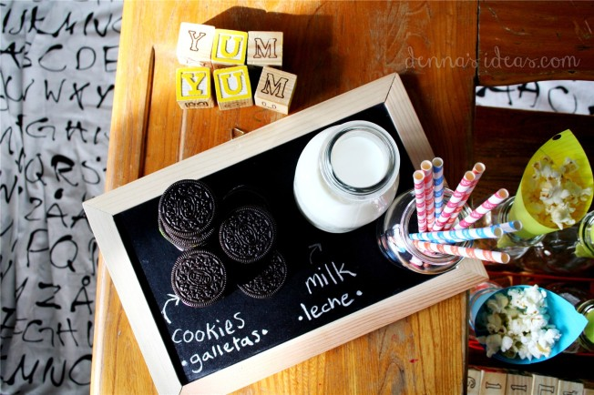 denna's ideas: back to school party cookies and milk