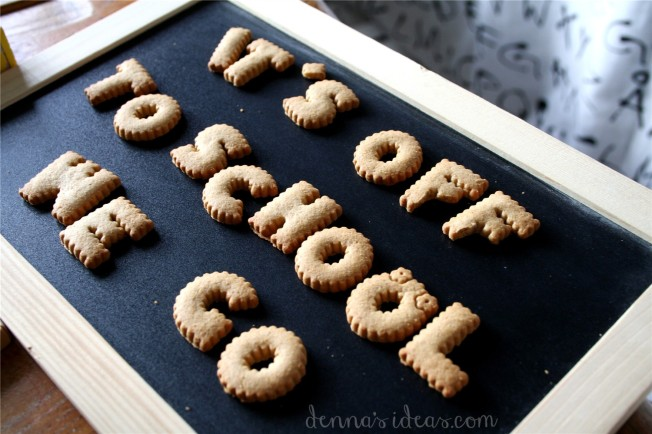 denna's ideas: back to school party cookie letters from Ikea