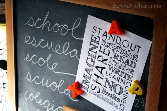 denna's ideas: back to school party signs