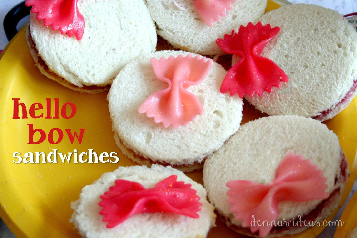 Dennas Ideas Party Sandwiches For A Hello Kitty Or Lalaloopsy Girly